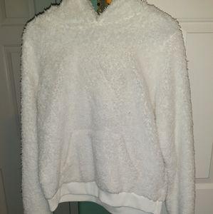 Fuzzy white Target Wondershop sweater